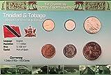 IMPACTO Monedas del Mundo. Trinidad y Tobago, Blister de 6 Monedas auténticas SIN Circular