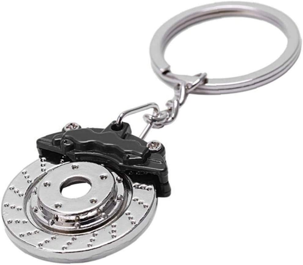 Angoter Freno De Disco Llavero De Coches Modificados Frenos Frenos Shape Key Llavero Hombres Pendiente De La Llave De La Motocicleta Decoraciones