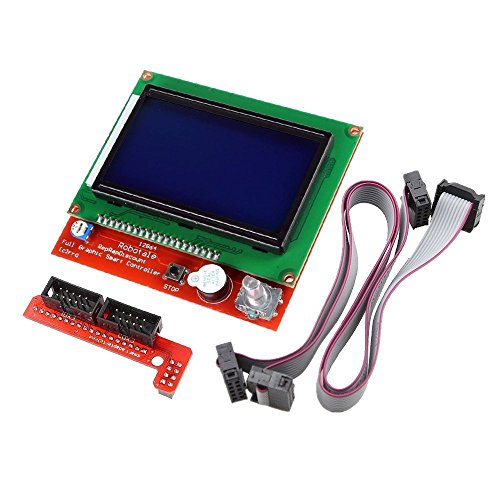 DollaTek 3D Drucker Controller Kit Rampen 1.4 + Full Grafik Smart Display Controller + Mega2560 + A4988 Schrittmotortreiber für RepRap (12864 LCD Full Grafik Smart Display Controller)