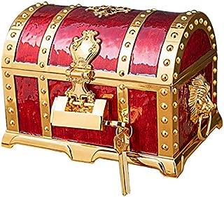 TOOGOO Vintage Box Treasure Chest Jewelry Box Organizer Art Craft Decor Trinket Storage Bins Red
