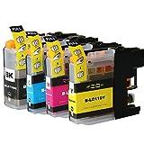 むさしのメディア BROTHER(ブラザー) LC110-4PK (4色セット) 互換インクカートリッジ (BK顔料/C/M/Y/