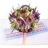 Biglietto Auguri,Matrimonio 3D Carta Pop-up Anniversario biglietti natale,Biglietto d'auguri per Mamma Speciale Miglior idee Regalo per Compleanno Mamma