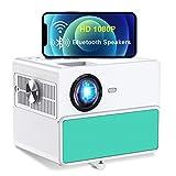 Proyector WiFi Bluetooth, TOWOND Full HD 1080P Proyector de Cine en casa, 7000 lúmenes y Pantalla de 300 Pulgadas, Compatible con HDMI/TV Stick/USB/Laptop/BLU-Ray DVD--Azul Tiffany