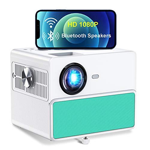 WiFi Beamer, TOWOND 7000Lux Full HD 1080P nativer Projektor, 8000: 1, 60000 Stunden Lampenlebensdauer, 300 \'\' und 4K-Display unterstützt, kompatibel mit Smartphone, PS5, HDMI, Laptop, TV-Stick, Xbox