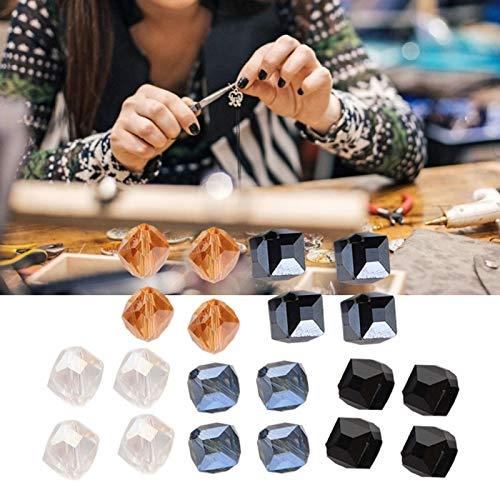 20 piezas Agujero diagonal, tejido de abalorios y fabricación de joyas Cuentas...