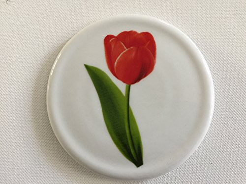 Topit Tea Cup Cover/ Lid with Tea Bag Caddy - Tulip