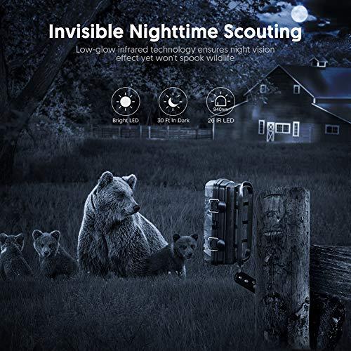 Victure Wildkamera Fotofalle mit Bewegungsmelder Nachtsicht 16MP 1080P Full HD Wildtierkamera mit Infrarot No Glow LEDs und IP66 Wasserdicht Jagdkamera für Tierbeobachtung Haussicherheitsüberwachung - 4