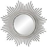 H HILABEE Espejos de Pared Espejo Circular Plateado Clásico Decorativo Arte de Pared Colgante Moderno para decoración del...