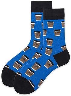 WZDSNDQDY Calcetines de Tubo para Hombre, Calcetines Deportivos de Hip Hop de Dibujos Animados, Material de algodón, Azul, Mano Suave y Duradera