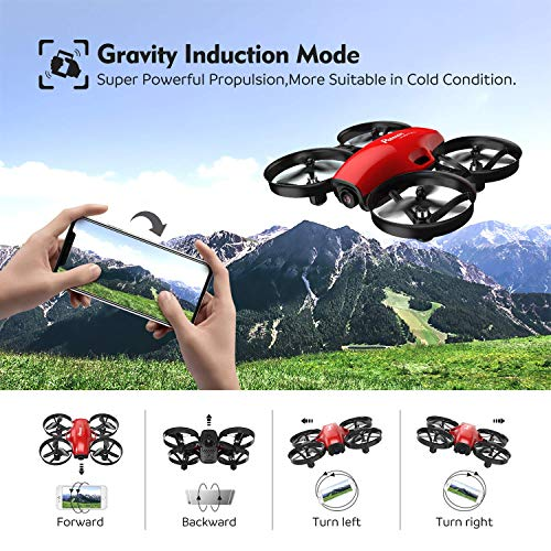 Potensic A30W FPV Mini RC Camera Drone, Red