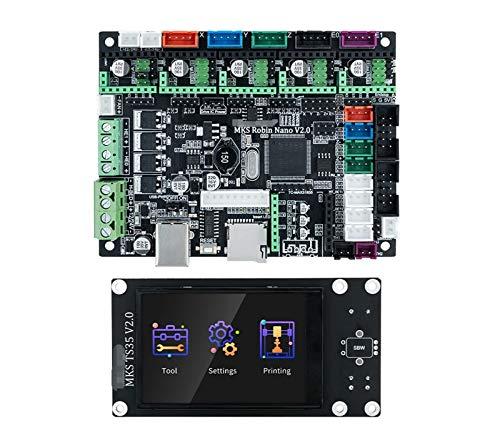 XIAOFANG MKS Robin Nano V2.0 Base de la Impresora 3D de la Placa de Control 32bit en marlin2.x 3.5 TFT Pantalla táctil Vista previa Gcode (Color : MKS Robin Nano V2.0)