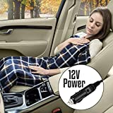 NEW 12V HEATING TRAVEL BLANKET SOFT COZY WARM WINTER CAR POWER SOCKET CONTROL
