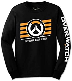 Tee Overwatch Logo Long Sleeve Sleeved Tshirt Shirt Size XL Mens Extra Large Black