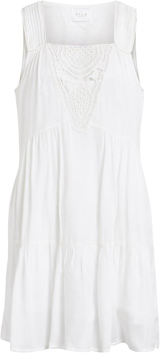 Vila Vestido Ibicenco Crochet Blanco Clothes (L - Blanco ...