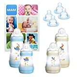 MAM Essential Bottle Set, regalos para bebés de +2 meses, con 2 biberones...