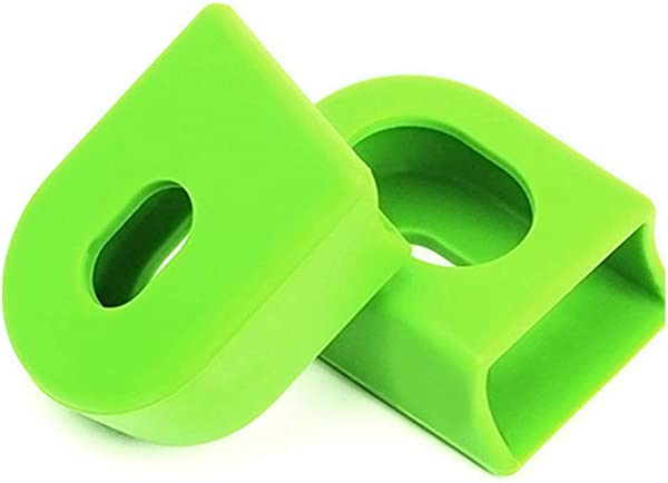 Ouken 1 Pair Bicycle Crank Case Crankset Protector Silicone Bike Crank Sleeve Universal MTB Accessory Green