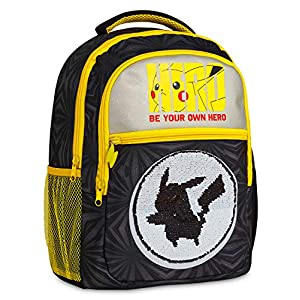 514N bjtfyL. SS300  - Pokemon Mochilas Escolares, Mochila Infantil con Diseño Lentejuelas Reversibles, Mochilas Escolares Juveniles con…