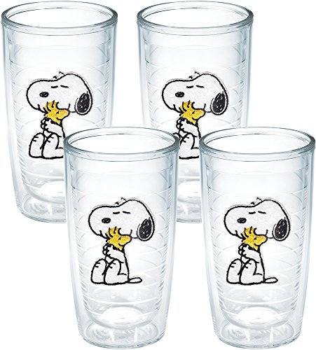 Tervis Peanuts Snoopy and Woodstock Tumbler, 16-Ounce, Clear, No Lid -