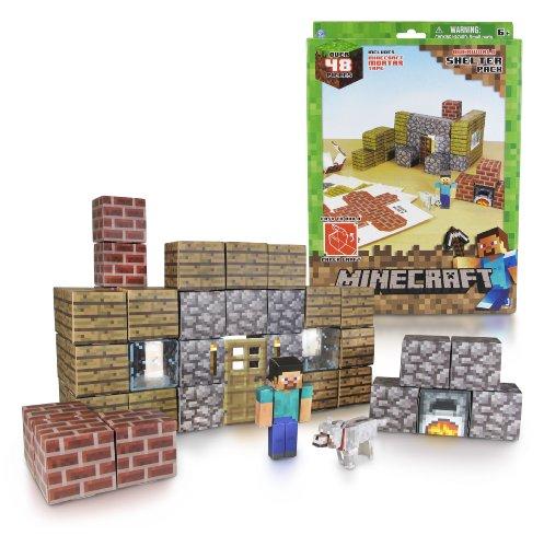 Jazwares Minecraft 16711 - Papierset zum Selberbasteln, Unterkunft, 48 Teile