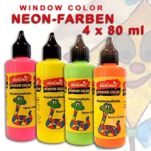 4X Neon Window Color Fenstermalfarben Farben Kreativ Glas Design Fenster
