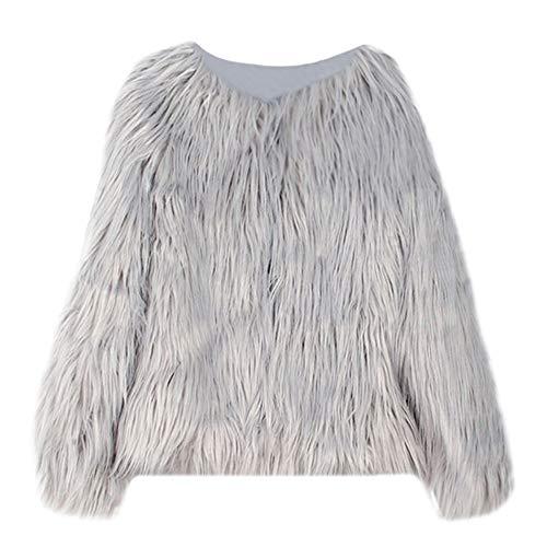 Kobay Kobay Kleinkind Kinder Baby Mädchen Winter Warm Langarm Kunstpelz Dicker Mantel Outwear(18-24M,Grau)