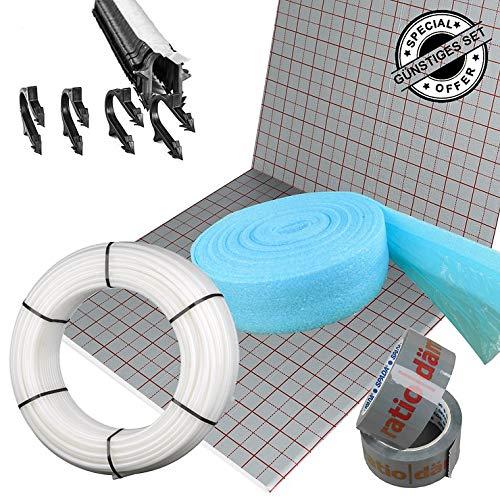 Ratiodämm Fußbodenheizung Tackersystem-Sets inkl. PE-RT Rohr 16 x 2 mm ohne Regeltechnik, 90 m²