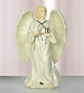 BANBERRY DESIGNS Memorial Male Bereavement Angel - Porcelain Male Angel Figurine - Condolence Remembrance