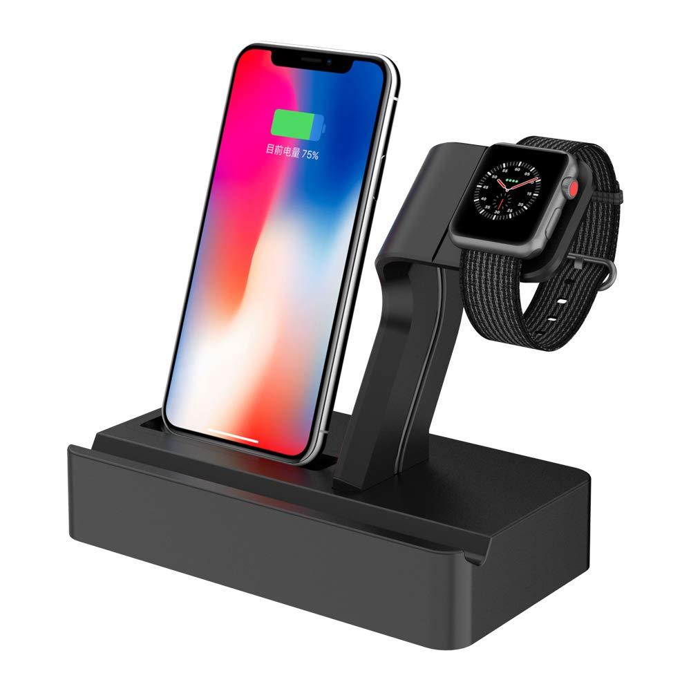 Simpfun Carga Dock Soporte Dual Móvil y Reloj Watch Soporte ...
