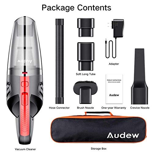 Lowest Prices! YFJLOVE AUDEW 120W 4000pa Handheld Cordless Vacuum Cleaner for Car Home Use HEPA Filt...