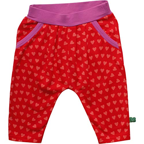 Fred'S World By Green Cotton Heart Pants Pantalon, Rouge (Traffic Red 018176306), 62 Bébé Fille