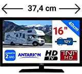 TV TNT HD LED 15,6' 39CM TNTHD USB - Neuf + Garantie - pour Camion Fourgon Camping Car 24 12 Volts 14W