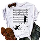 Womens Cat Shirt Novetly 3D Colorful Short Sleeve Tshirt Black Cat Ew People Meowy Cat Lovers Tees Gifts.S-5XL
