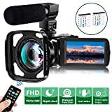Video Camera Camcorder with Microphone, VideoSky FHD 1080P...