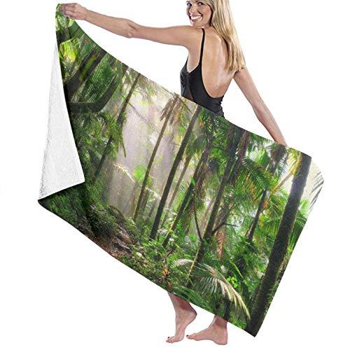 Toallas de baño,Hermoso Camino de la Selva a través del Bosque Nacional El Yunque en Puerto Rico,Manta Suave de Las Toallas de Playa de la Microfibra para el Viaje de la Piscina del baño