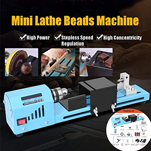 Great Price! 150W Diy Woodworking Wood Lathe Mini Lathe Machine Tool Milling Machine Grinding Polish...