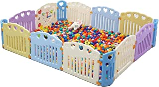 Xuan Yuan Children's Play Fence,Fence Indoor Amusement Park Room Partition Crawling Safety Fence Baby Play Fence (Size : 188 * 264cm)