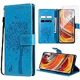 Oududianzi Coque pour Xiaomi Mi 11 Lite 5G+[ 2X Verre Trempé ] Étuis à Rabat et Folio Protection...