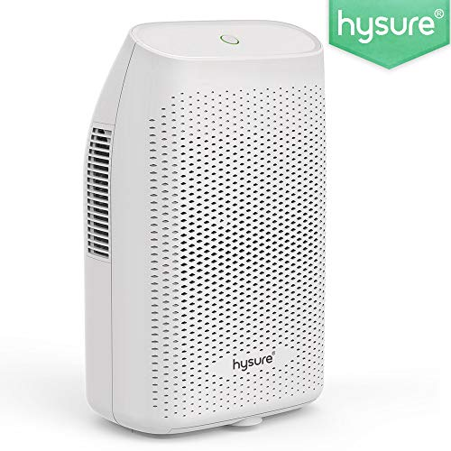 Hysure® 2000ML Dehumidifier,Portable Electrical Dehumidifier for Home,Bedroom,Bathroom,Kitchen,Basement and Small Office-White