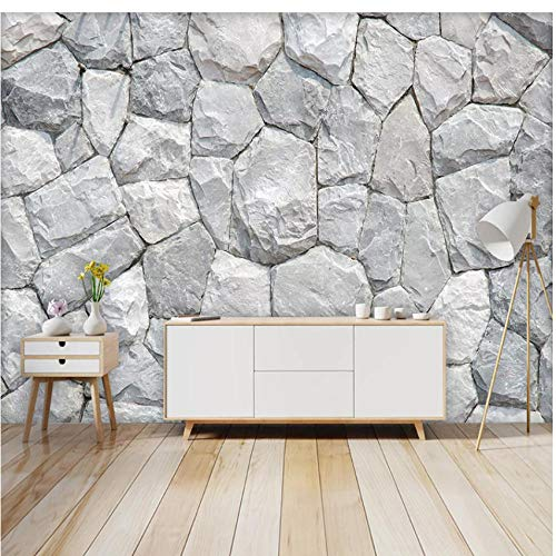 Gesimuleerde stenen muurschildering behang 3D patroon Home woonkamer slaapkamer kinderkamer club decoratie kunst afneembare sticker papier foto muursticker (B) 350 x (H) 250 cm.