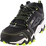 Fila Men's Oakmont Tr Mid Black/Safety Yellow White Mid-Top Leather Trail Running - 7M