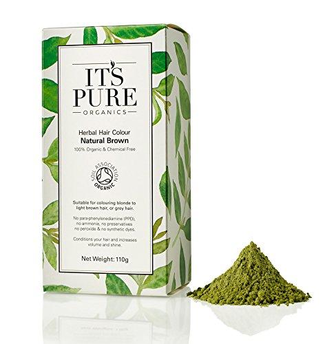 It's Pure Organics Organic Hair Dye - Herbal Hair Colour Natural Brow