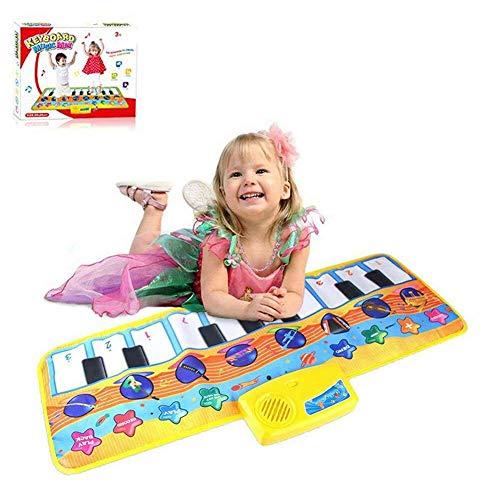 Afufu Alfombra de Piano, Alfombra Musical para Niños, 8 Modes Educacións Juguetes para Bebé...