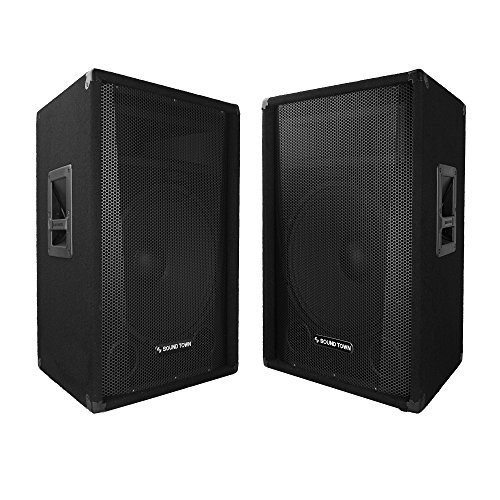 "Sound Town 2-Pack Callisto Series 15"" Full-Range Passive DJ/PA Speaker (CALLISTO-15-PAIR)"