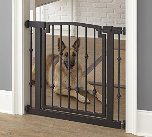 """Emperor Rings Dog Gate - 32"""" H X 34""""-39"""" W - Mocha"""