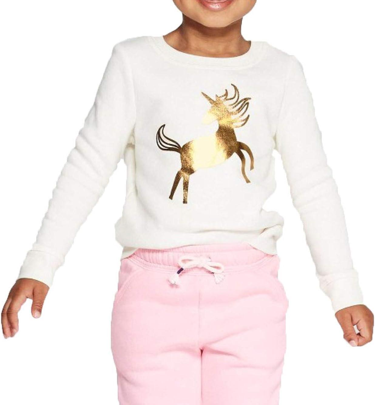 Toddler Girls Animal Print Fleece Zip-Up Hoodie Cat /& Jack Pink Choose Size NEW