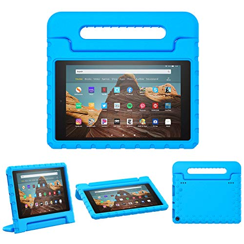 TiMOVO Case for All-New Amazon Fire HD 10 Tablet (9th Generation, 2019 Release), Lightweight Shockproof Convertible Handle Stand, Kids Case for Fire HD 10 Tablet - Blue