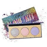 3D Highlighter Powder Palette OYOTRIC Makeup Chameleon Highlighter Rainbow Highlighter Shimmer...