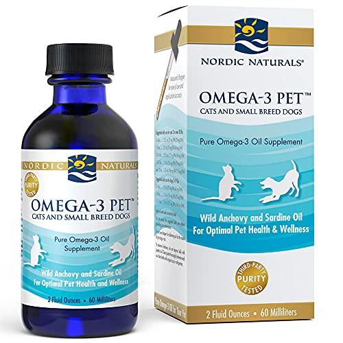 Nordic Naturals Omega-3 Pet, Unflavored - 304 mg Omega-3 Per One mL - 2 oz -...
