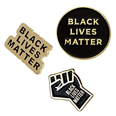 Black Lives Matter Pins - Black Raised Fist Lapel Pin - BLM Pin for Backpacks Clothes Hat Decoration - Black Power Pin