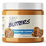 High Protein Nut Butter, Fit Butters Legendary Low Carb Spread with Whey Protein Isolate (Monster Cookie Peanut Butter)